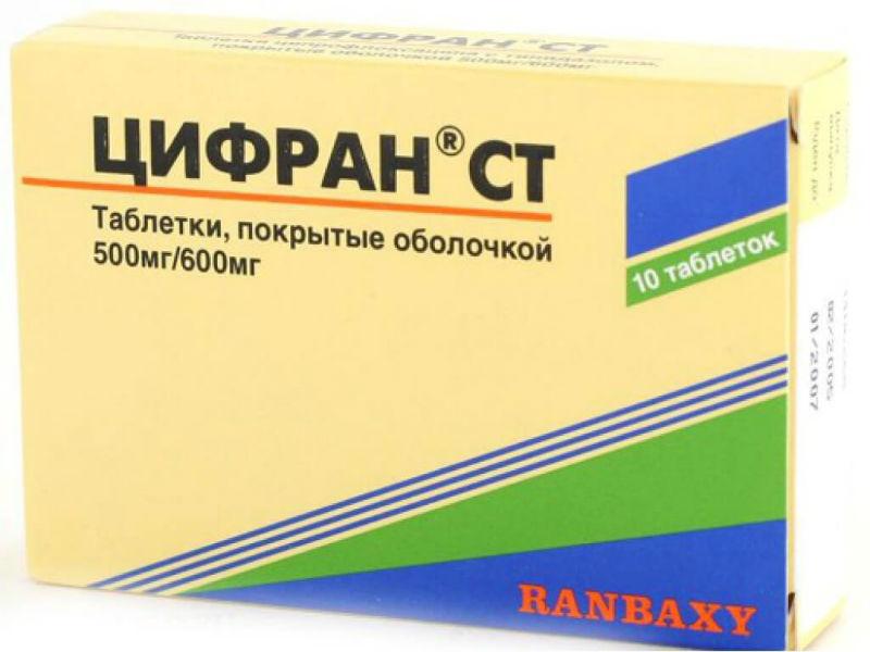 Цифран при простатите инструкция сбитень медовый для лечения простатита
