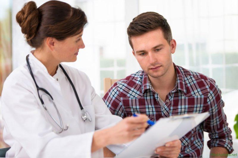 На приеме у врача по вопросу бесплодия
