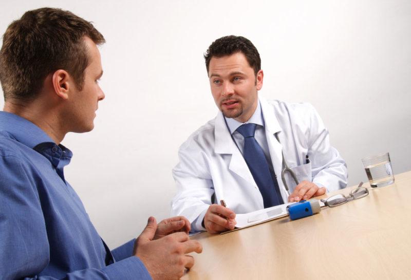 Необходимо обязательно показаться врачу