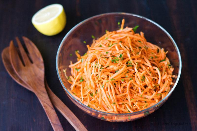 Морковный салат с имбирем